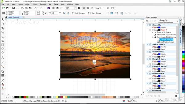 Working with PowerClips: CorelDRAW X8 Essential Training