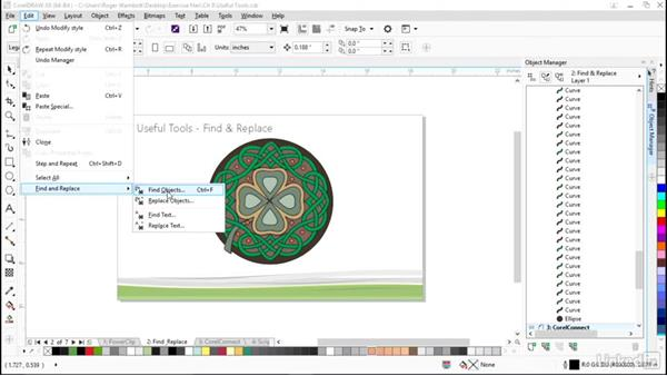 Using Find and Replace: CorelDRAW X8 Essential Training