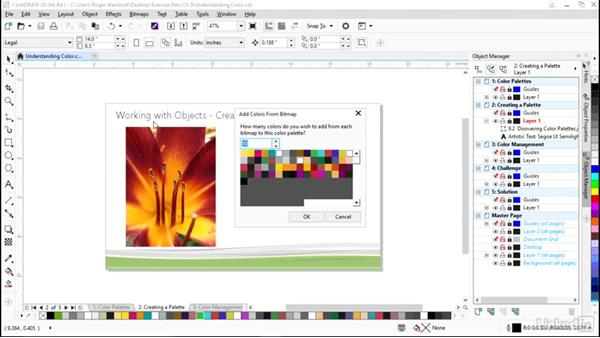 Creating a color palette: CorelDRAW X8 Essential Training