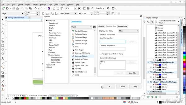 Creating keyboard shortcuts and toolbars: CorelDRAW X8 Essential Training