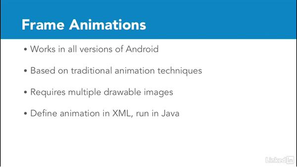 Choose an animation technique: Animations and Transitions in the Android SDK