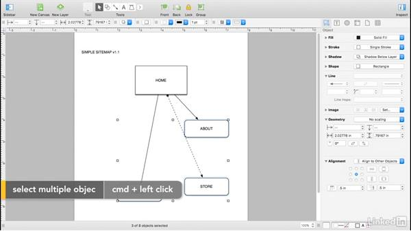 Alignment and distribution: UX Design Tools: OmniGraffle 6