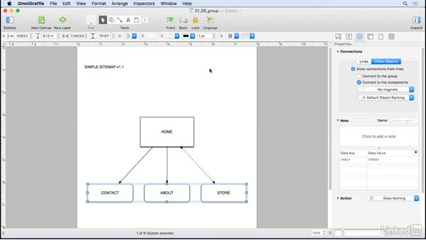 Group and lock objects: UX Design Tools: OmniGraffle 6