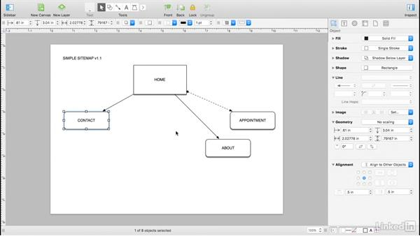 Build a simple sitemap: UX Design Tools: OmniGraffle 6