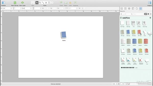 Build a stylized sitemap with stencils: UX Design Tools: OmniGraffle 6