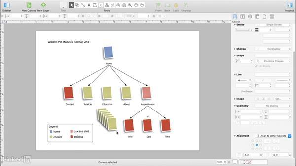 Visual design for excess content: UX Design Tools: OmniGraffle 6