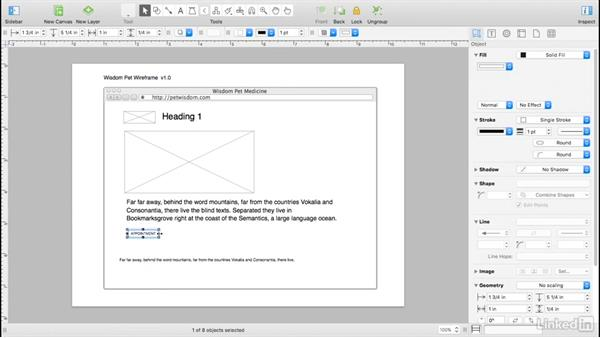 Wireframe a navigation bar: UX Design Tools: OmniGraffle 6