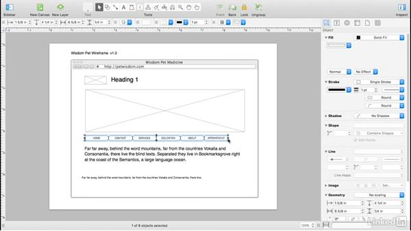 Position elements: UX Design Tools: OmniGraffle 6
