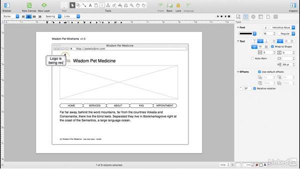 Add comments: UX Design Tools: OmniGraffle 6