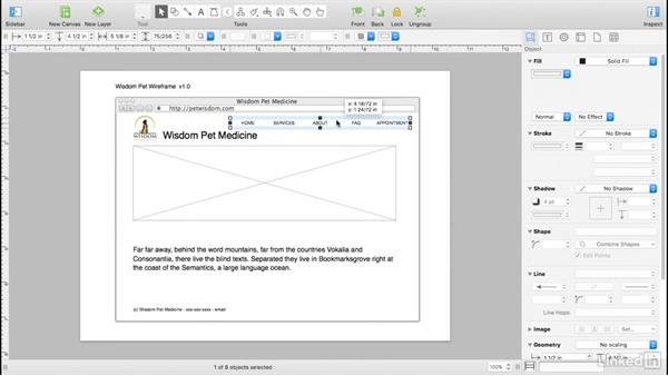 Wireframe additional pages: UX Design Tools: OmniGraffle 6