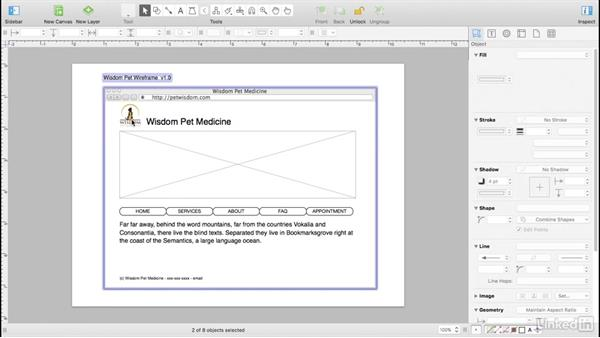 Convert the wireframe into a template: UX Design Tools: OmniGraffle 6