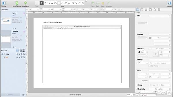 Use canvases for multiple wireframes: UX Design Tools: OmniGraffle 6