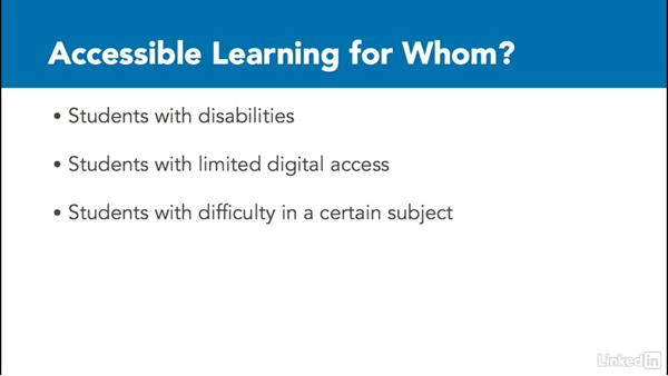 What is accessible learning?
