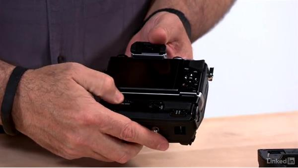 Adding a camera grip: Olympus OM-D Cameras: Tips and Techniques