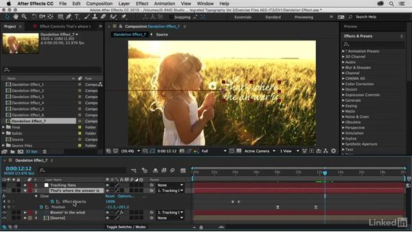 Duplicating a second title: After Effects Guru: Integrating Type into Video Volume 2