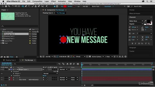 Designing the title using shape layers: After Effects Guru: Integrating Type into Video Volume 2