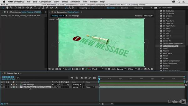 Creating a displace source: After Effects Guru: Integrating Type into Video Volume 2