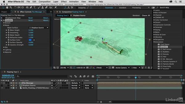 Creating a water effect with caustics: After Effects Guru: Integrating Type into Video Volume 2