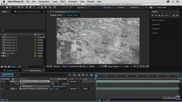 Moderating the distortion: After Effects Guru: Integrating Type into Video Volume 2
