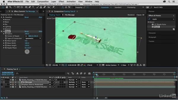Ripple effect transition: After Effects Guru: Integrating Type into Video Volume 2