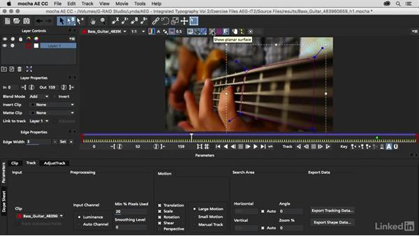 Planar tracking using mocha AE: After Effects Guru: Integrating Type into Video Volume 2