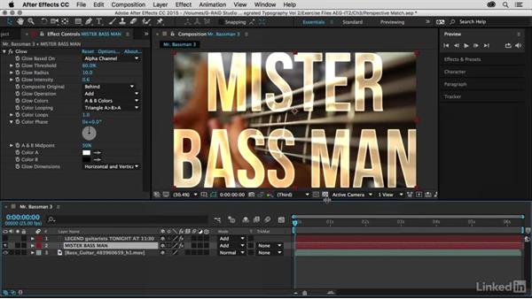 Pasting the tracking data: After Effects Guru: Integrating Type into Video Volume 2