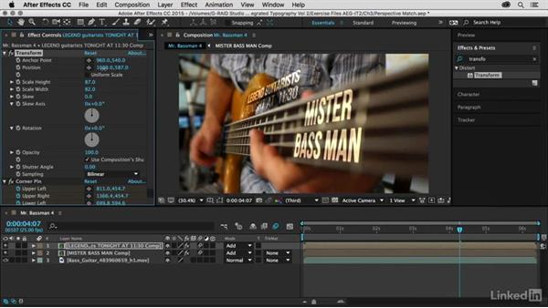Creating a fluorescent blinking effect: After Effects Guru: Integrating Type into Video Volume 2