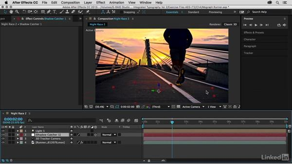 Camera tracking preparations setup: After Effects Guru: Integrating Type into Video Volume 2