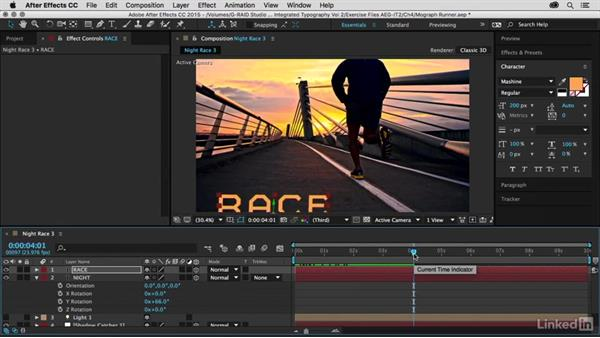 Adding titles across Z space: After Effects Guru: Integrating Type into Video Volume 2