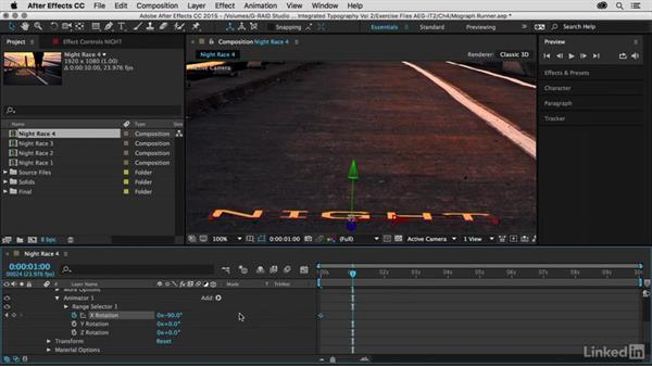 Animating titles and setting timing: After Effects Guru: Integrating Type into Video Volume 2