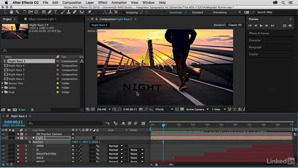 Adding contact shadows and light: After Effects Guru: Integrating Type into Video Volume 2