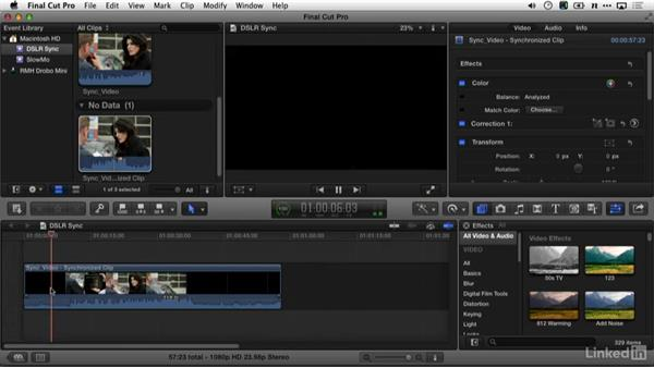 Syncing sound with Final Cut Pro X: DSLR Video Tips: Audio