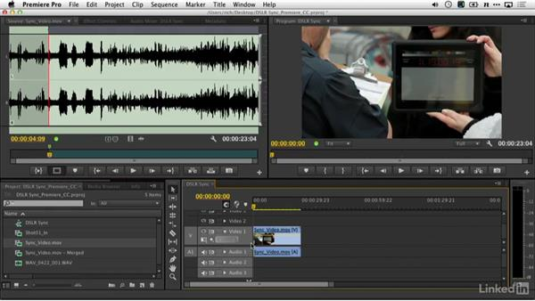 Syncing sound with Premiere Pro: DSLR Video Tips: Audio