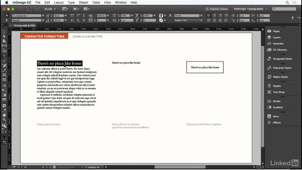 Sizing and scaling type: InDesign Typography Part 1