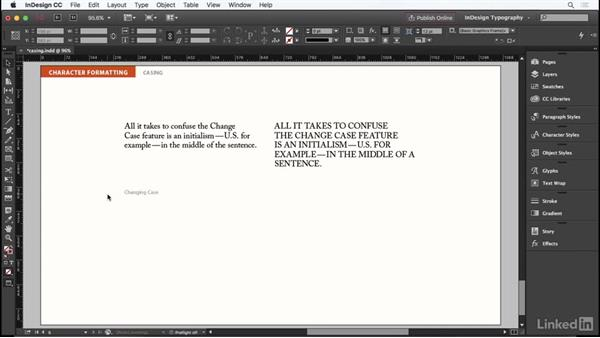 Casing: InDesign Typography Part 1
