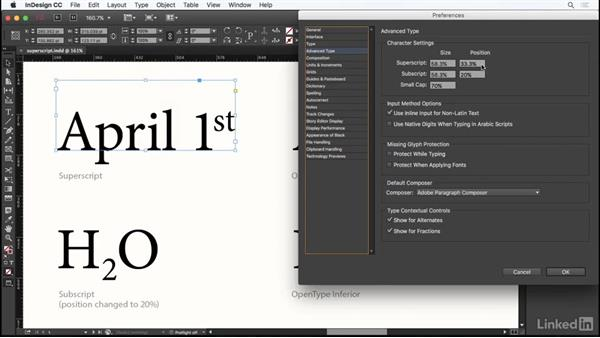Superscript and subscript: InDesign Typography Part 1