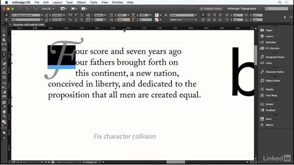 Baseline shift: InDesign Typography Part 1