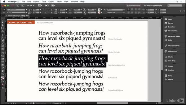Italic and oblique type: InDesign Typography Part 1