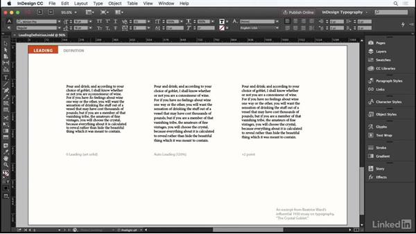 Definition: InDesign Typography Part 1
