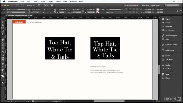 Considerations for leading: InDesign Typography Part 1