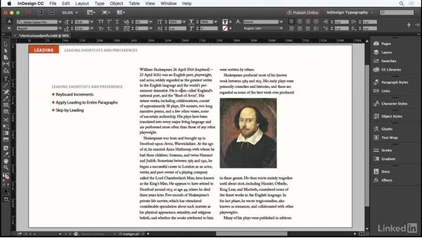 Leading shortcuts and preferences: InDesign Typography Part 1