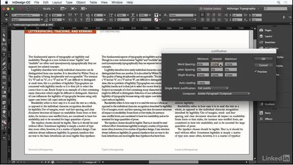 Letter spacing: InDesign Typography Part 1