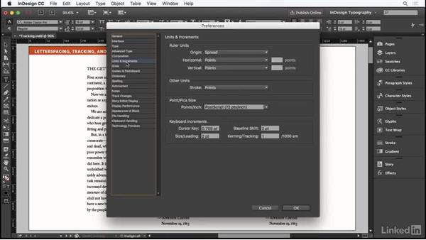 Tracking: InDesign Typography Part 1