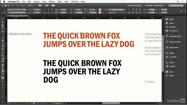 Adjusting word spacing: InDesign Typography Part 1