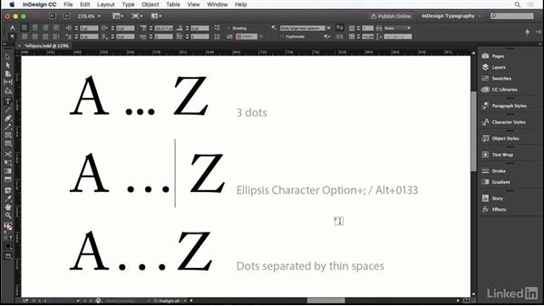Ellipsis: InDesign Typography Part 1
