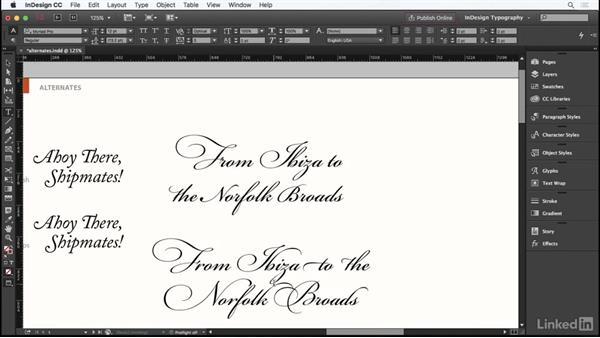 Contextual alternates: InDesign Typography Part 1