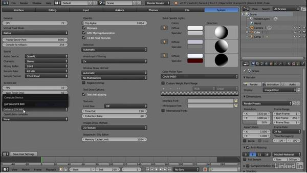 Configuring user preferences: Blender: Interior Environments for Games