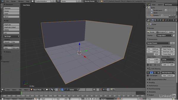 Creating a modeling UI layout: Blender: Interior Environments for Games