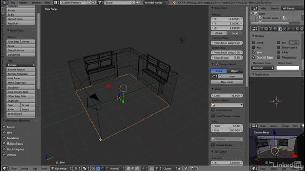 Removing N-gons: Blender: Interior Environments for Games
