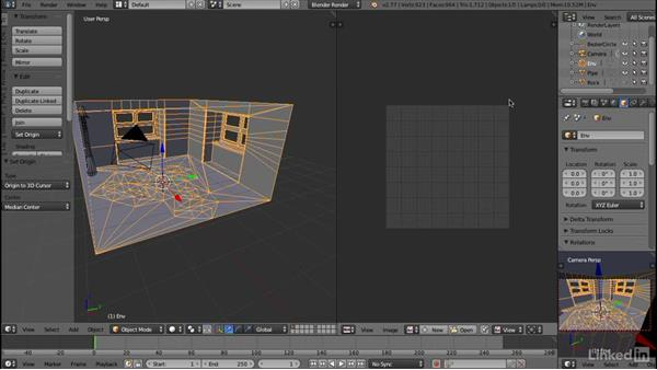 Unwrapping a UV set: Blender: Interior Environments for Games